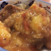 鹿筋のトマト煮サラダ